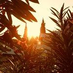 Coucher de soleil sur l'hôtel