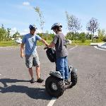 Paul familiarizing our son with his Segway.
