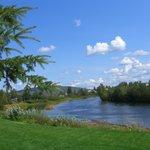 Zipping along the Chena River
