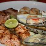 Seafood mixed grill. Plenty of good food