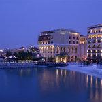 Panoramic view of Shangri-La Hotel, Qaryat Al Beri, Abu Dhabi