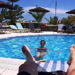 Genuß im Pool