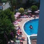 uitzicht op gedeelte zwembad