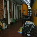 area en frente de las habitaciones, comedor