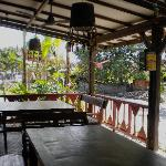Terrace seating, warung style