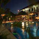 Beach Club Evening Around the Pool