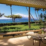 Lanai from a Two Bedroom Ocean Front