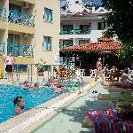small pool and bar