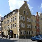 Corner street with hotel