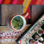 Coca tea for soroche in the living room