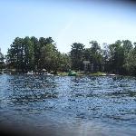 Paddle boat shot