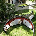 The garden perfect for drying kites!