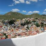 view of Guanajuato from many terraces at Casa Zuniga
