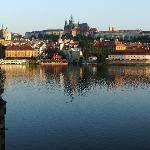 View from the Charles Bridge at sunrise