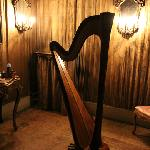 Harp inside the Palazzo