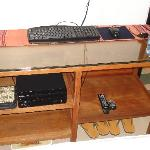 """""""Entertainment Center"""" in room - PC & DVD player with DVDs"""