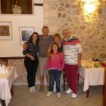 Sebastiano (right), Anna (left), us and Federica