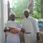 The Chefs with the Catch of the day