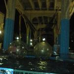 under the overpass at the boardwalk