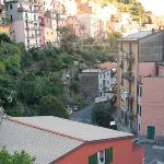 view of Manarola from our balcony