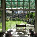 view from inside breakfast room