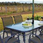 Private verandah's with BBQ, and stunning views to of the vineyard and Brokenback mountain range