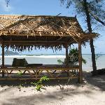 bambou floor on the beach