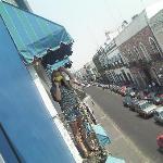 Balcony overlooking the street