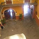 The hotel lobby area