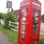 the phone box outside