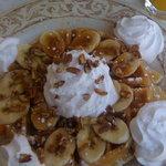 Banana Fosters Waffles