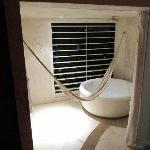Bathtub, with hammock