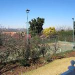 Tennisplatz am Haus