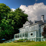 Grand 19th century mansion on top of a hill overlooking the Berkshire Mountains