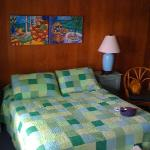 Up to date comforter and art work in room 4