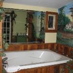 The beautiful jacuzzi tub