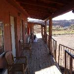 looking along the verandah outside room