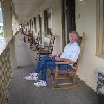 the balcony and rockin' chair