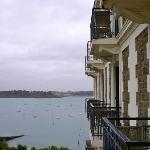 La vue sur mer depuis les chambres