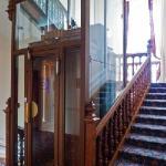 L'ascenseur de l'hôtel