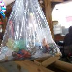 bag of rocks when finished