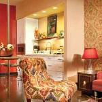 European style kitchen with gas burners in every suite