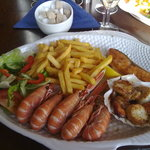 Melvaig Inn's warm seafood platter