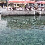 Clear water and the busiest restaurant. Most are much quieter but their food is excellent too!