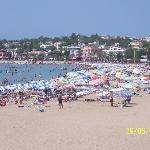 Beaches were packed when Turkish Holiday here.