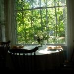 breakfast in the dining room...