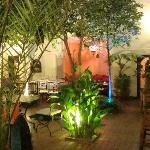 le patio du riad le soir