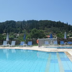 Pool area - free sunbeds at mid-day !