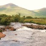 a bonny little river as you approach the smithy