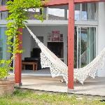 Chambre d'hôtes Muriska Vue sur le hamac de la terrasse